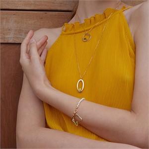 마티아스[] Oval candy Necklace - Gold