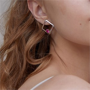 마티아스[] Diamond candy Earring - Silver