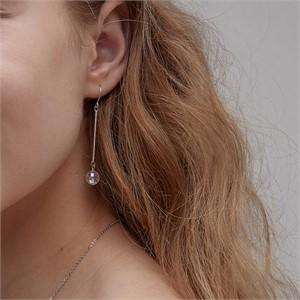 마티아스[] Crystal AB Earring - Silver