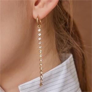 마티아스[MATIAS] Crystal line drop Earring