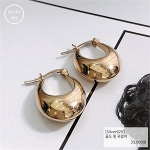 [j.bling]골드 링 귀걸이