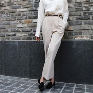 [더보니] 봄 여자 핀턱 와이드 슬랙스 팬츠