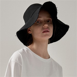 [트립르센스] ROUGH COTTON BUCKET HAT BLACK