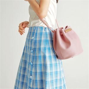 [조니조니] 2way bucket bag_Pink Lavender