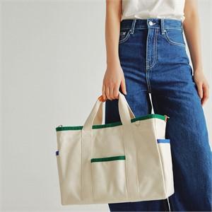 [조니조니] Sketch canvas bag_White
