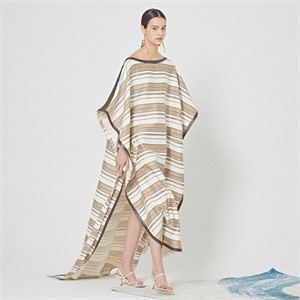 [MUSEE] Marine beige stripe cape