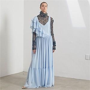 [MUSEE] Marre chiffon dress_Sky blue