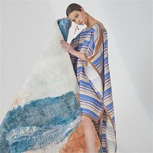 [MUSEE] Marine blue stripe cape