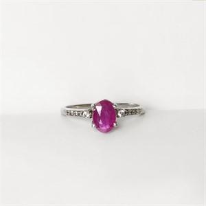 [제이블링] 7월 탄생석 반지! 미니 루비 큐빅반지
