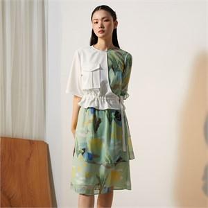 [줄리빈즈] Home Safari Unbalance Dress