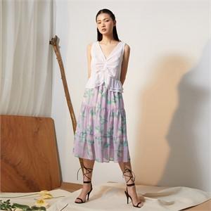 [줄리빈즈] Lavender Flower Maxi Skirt