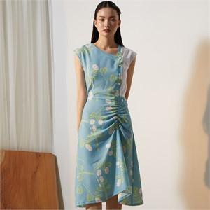 [줄리빈즈] Blue Flower Button Dress