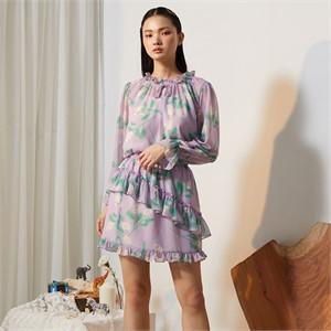 [줄리빈즈] Lavender Flower Mini Skirt