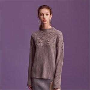 [블리다] grey chain knit top