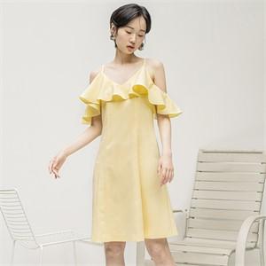 [블리다] lemon offshouler dress