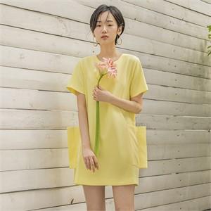 [블리다] lemon pocket dress