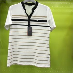 피에이티 NC05 스트라이프 반하이넥 티셔츠 1F 45401