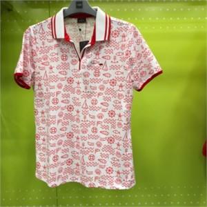 피에이티 NC05 프린트 반 오픈 티셔츠 1F 45107