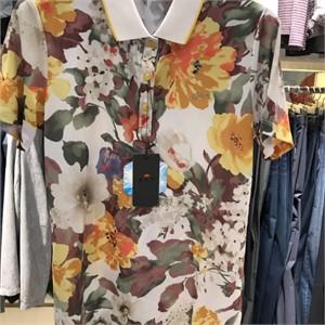 피에이티 NC05 수채화 프린트 티셔츠 1E 45232