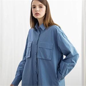 [320쇼룸] [320SHOWROOM]포켓 워싱 셔츠 - 블루