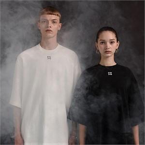 [디바이디그낙] 12 Embroidery T-Shirts (BK)