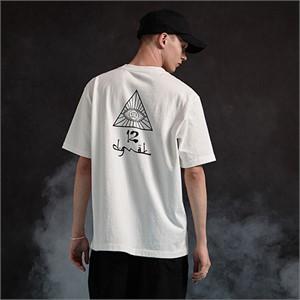 [디바이디그낙] illi Triangle Printing T-Shirts (WH)
