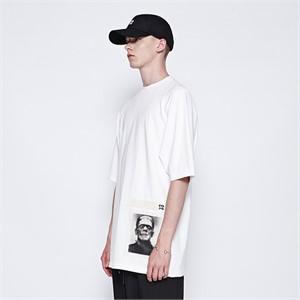 [디바이디그낙] Frankenstein Patchwork T-Shirts (WH)