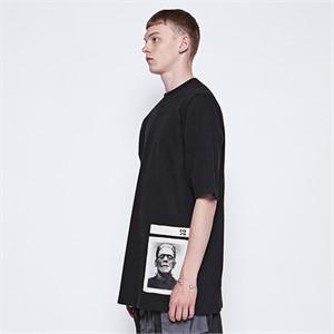 [디바이디그낙] Frankenstein Patchwork T-Shirts (BK)