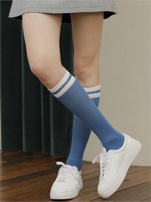 [느와] High Crew Sock