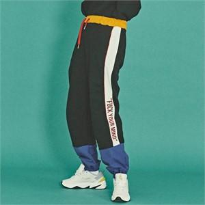 [코케트스튜디오] SWEAT COLOR BLOCK JOGGER PANTS [BK