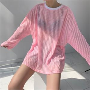[입다] 비치 스트라이프 루즈 티셔츠 3color