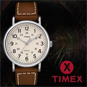 TIMEX 타이맥스 TW2R42400 남성시계 가죽밴드 손목시계