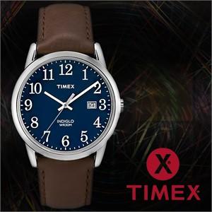 TIMEX 타이맥스 TW2P75900 남성시계 가죽밴드 손목시계