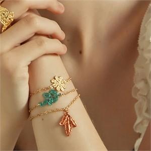 [엘리오나] Olive Floral Bracelet