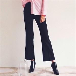 [로지에] 18fw boots cut slacks black