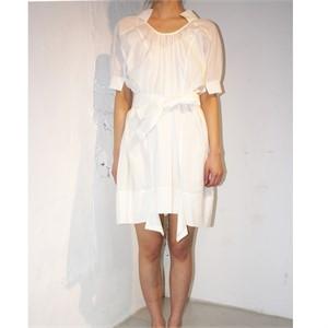 [사이미전] VOLANT MINI DRESS WHITE