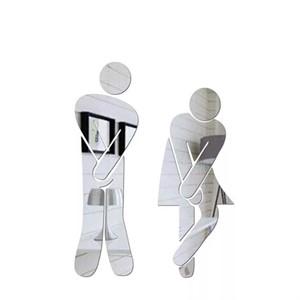 화장실 남녀 3D입체 아크릴 미러 포인트 스티커