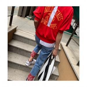 [지에르] both sides wearable top / 그레이, 레드 / 프리사이즈