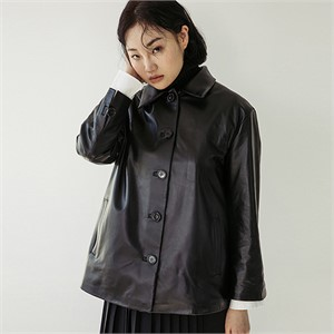 [스페로네]LAMB SKIN SURPLUS JACKET [BLACK]