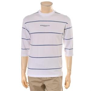 TBJ NC02 7부소매 스트라이프 티셔츠 T182TS050P
