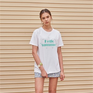 [YAN13] LOVELY HEART HALF T-SHIRTS_MINT