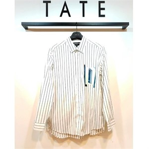 TATE NC02 코튼 세미오버핏 프린트 셔츠 KA9F7-MRC060