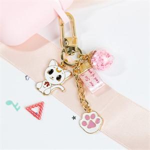 [핸드메이드] 반달 고양이 에어팟 키링