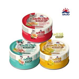 사조 고양이주식캔 옵티원부스터160g 닭안심연어 맛살 치즈