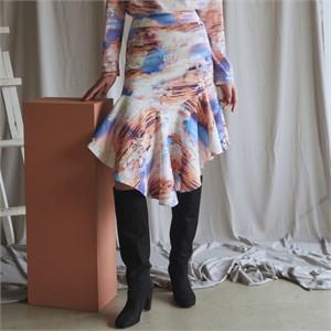 [블리다] sunset flounce skirt