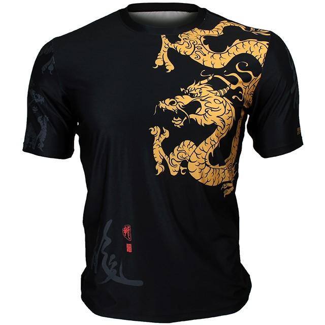 FR-364 골든 드래곤 GOLDEN DRAGON 풀그래픽 루즈핏 반팔 티셔츠