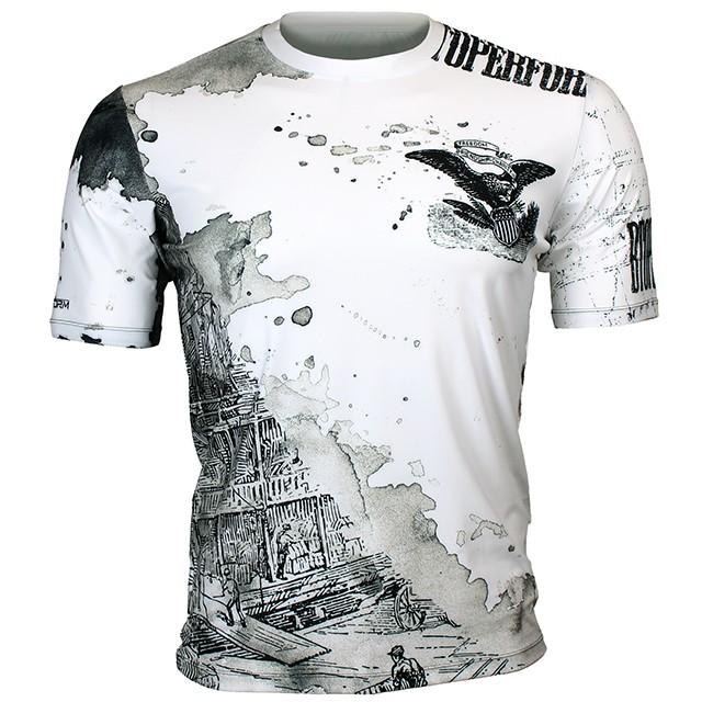 FR-347W 올드 와일드-화이트 OLD WILD -White 풀그래픽 루즈핏 반팔 티셔츠