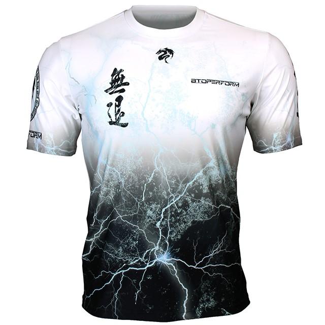 FR-303W 무퇴-화이트 NO RETREAT-White 풀그래픽 루즈핏 반팔 티셔츠