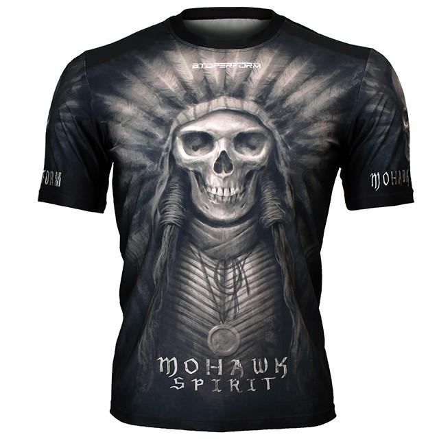 FR-302K 모하크 스피릿-블랙 MOHAWK SPIRIT-Black 풀그래픽 루즈핏 반팔 티셔츠