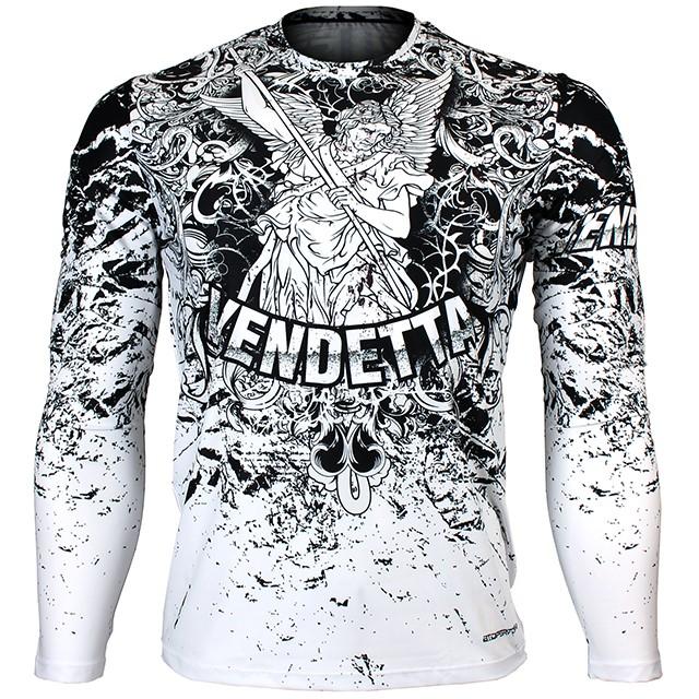 FR-155W 벤데타-화이트 VENDETTA-White 풀그래픽 루즈핏 긴팔 티셔츠